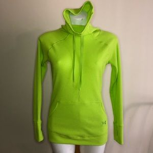 Under Armour Long Sleeve Neon Green Top / Shirt